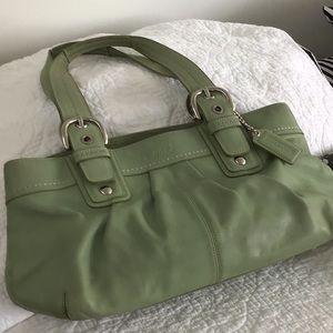 Soft green COACH bag